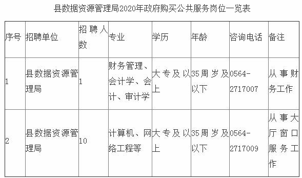 安徽六安霍邱县数据资源管理局政府购买公共服务岗位招聘11人公告(图1)